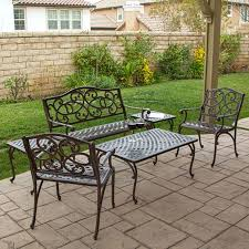 Patio Furniture Vintage - vintage cast aluminum patio furniture home design great photo to