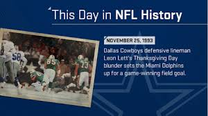lett s thanksgiving day blunder i this day in nfl history