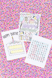 free printable birthday cards for studio diy