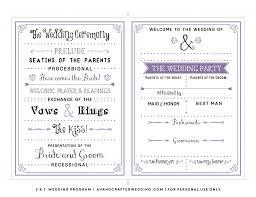 wedding programs diy templates wedding ideas outstanding wedding program ideas diy invitations