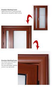 Aluminum Exterior Door Rogenilan 45 Series Wood Color Front Door Design Aluminum One And