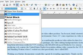 font size for cover letter
