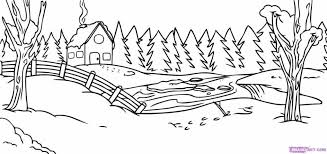 winter scenes coloring pages coloring