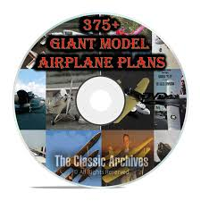 375 giant scale rc model airplane plans templates bombers jets