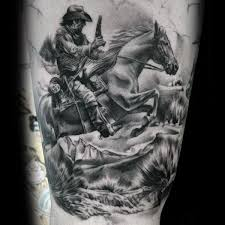90 cowboy tattoos for men wild wild west designs