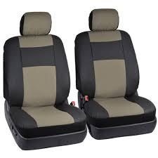 Auto Seat Upholstery Black U0026 Beige Pu Leather Seat Covers For Car Auto U0026 Steering Wheel
