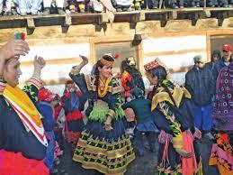 traditional celebrations kalash festival in swing in chitral