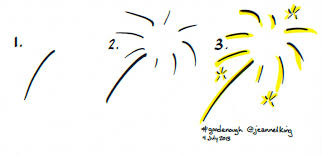 jeannelking com how to draw good enough fireworks