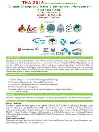 Monsoon Asia Map Tha 2015 International Conference On U201cclimate Change And Water