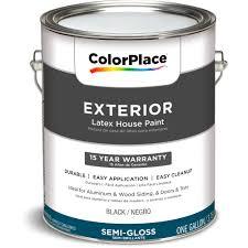 colorplace exterior paint black semi gloss finish 1 gallon