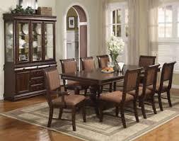 merlot 9 piece formal dining room furniture set pedestal table u0026 8
