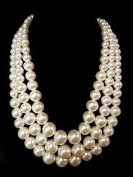 pearls necklace making images Three row pearl necklace the bead factory jpg