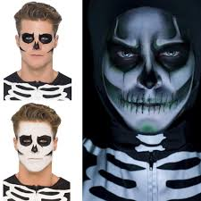 skeleton make up halloween fancy dress and party