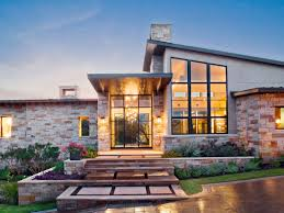 spanish oaks contemporary house front exterior paula ables