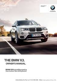 bmw x3 2016 f25 owner u0027s manual