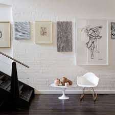 create an elegant statement with a white brick wall exposed