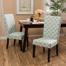Fabric Dining Room Chairs Shop For Fabric Geometric Print Dining Chair Set Of 2 By