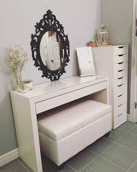 ikea vanity table with mirror and bench improbable vanity stool storage ideas captivating ikea vanity table