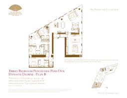Panorama Towers Las Vegas Floor Plans by Three Bedroom Penthouse Plus Den Floor Plans The Mandarin Oriental