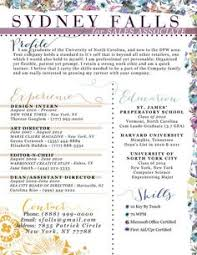 a really different resume with your name at the bottom check out
