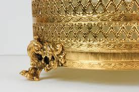 vintage trash can gold garbage waste basket stylebuilt matson