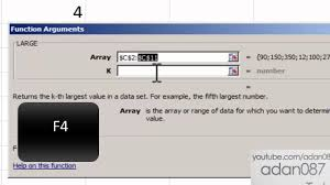 excel sort numeric values with formula large youtube