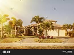 Southwest House Florida Single Family House In Sunny Day Typical Southwest