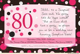 dot surprise 80th birthday invitation lovely senior lady party