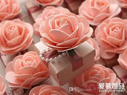 candy boxes wholesale new big candy box pink flower with pearl ribbon bow