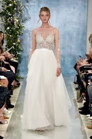 Inbal Dror Fall 2016 Wedding by Inbal Dror Long Sleeve Beaded Sheath Wedding Dress With Slit Skirt