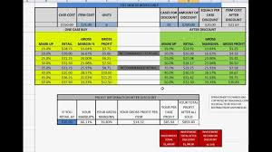 Pricing Spreadsheet Template Sales Or Retail Calculate Gross Margin Markup Profit