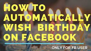 how to automatically wish happy birthday on