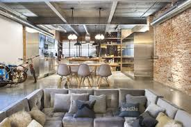 fulgurant wall decoration along with industrial kitchen design as