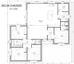 plan de maison avec 4 chambres plan maison 120m2 3 chambres idées décoration intérieure