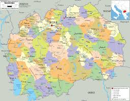 Map O Detailed Clear Large Map Of Macedonia Ezilon Maps