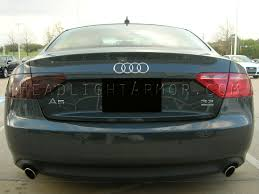 blacked out tail lights legal 08 12 audi a5 s5 smoked taillight film kit