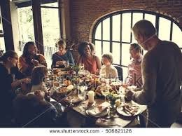 thanksgiving celebration tradition family dinner concept stock photo