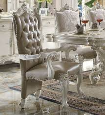 versailles dining room versailles dining table white by acme 61130