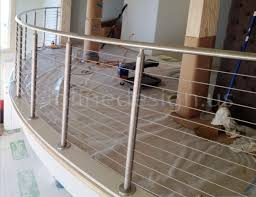 jimmy la modern stainless steel cable and glass railing
