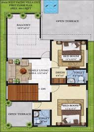 Floor Plan For 30x40 Site by 30 40 House Plans West Facing