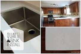 duo ventures kitchen makeover countertop u0026 sink installation