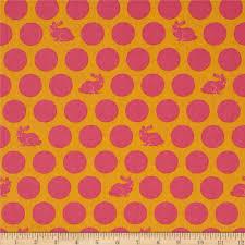 tula pink fox field hoppy dot sunrise from fabricdotcom designed