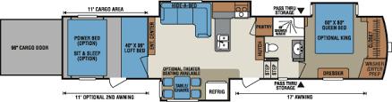 Fifth Wheel Floor Plans 2016 Venom Luxury Fifth Wheel Toy Hauler Floorplans U0026 Photos K Z Rv