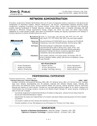 Administration Resume Samples Pdf by Sample Resume For Experienced Network Administrator Resume For
