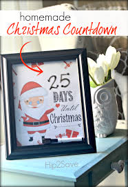 homemade christmas countdown includes free printables for