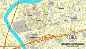 dayton map dayton ohio us printable vector city plan map