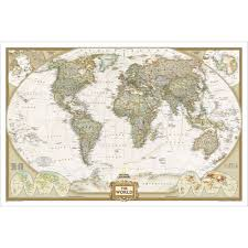 Map Of The World Art by World Executive Wall Map National Geographic Store