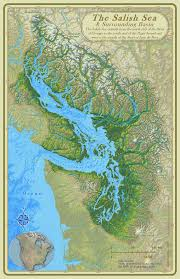 Topographic Map Seattle by Cartographer Stefan Freelan Of Western Washington University