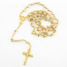 catholic rosary necklace catholic gold tone rosary necklace us seller ebay