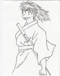samurai sketch inked by tenko chan on deviantart